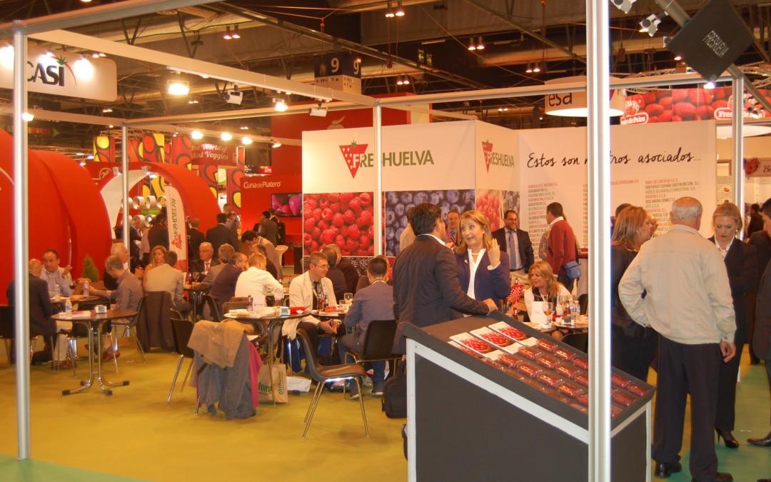 El sector de las fresas y berries de Huelva aumenta su presencia en la sexta edición de Fruit Attraction