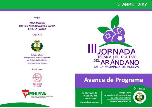 Jornada Técnica sobre el arándano el próximo 5 de abril en el Campus de La Rábida