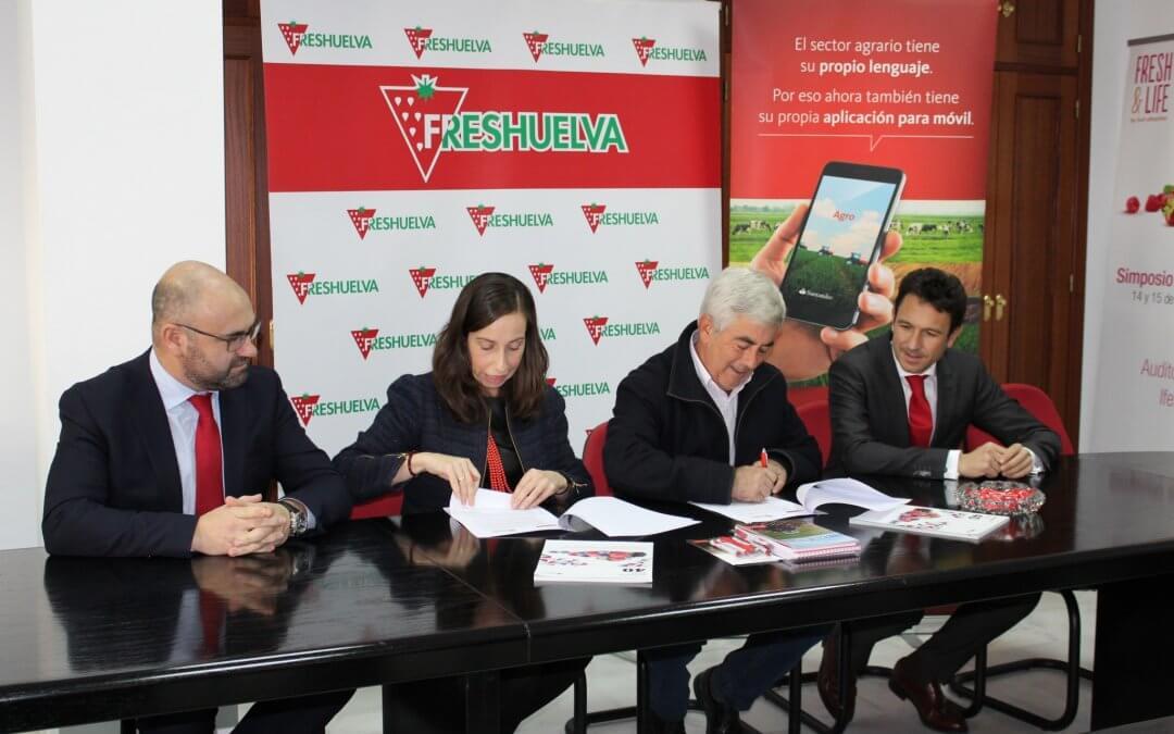 El Banco Santander renueva como entidad colaboradora de Freshuelva Partners