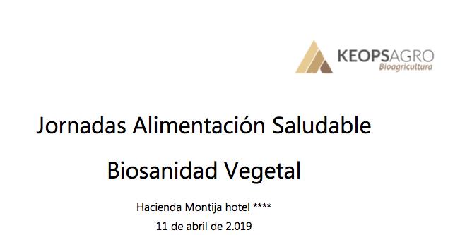 Jornadas 'Alimentación Saludable y Biosanidad Vegetal' el día 11 de abril