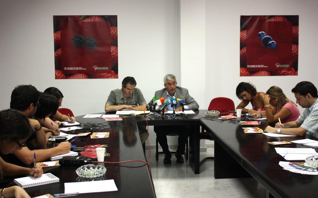 Freshuelva culmina la campaña con una producción de 245.000 toneladas y un aumento del 4,7% en la facturación. 01/07/2011