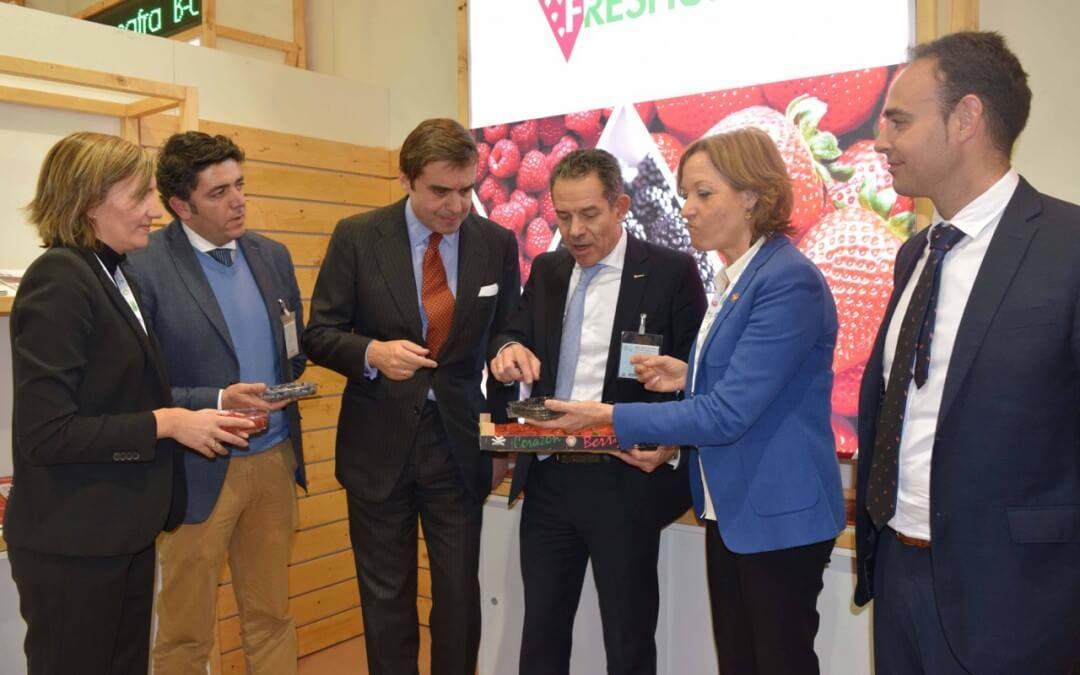 Los frutos rojos onubenses consolidan sus mercados europeos y abren nuevas vías de comercialización en Fruit Logística