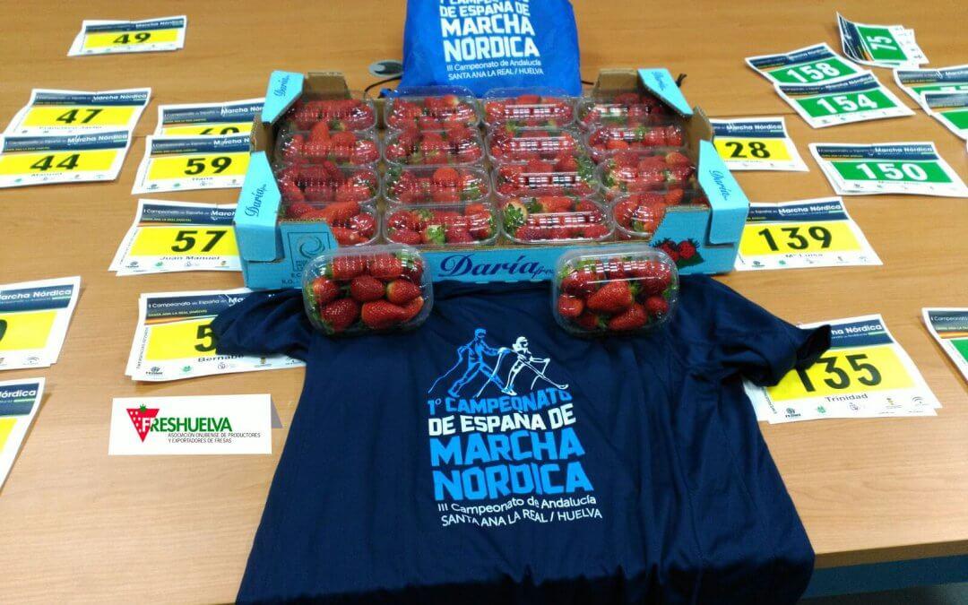 Las fresas de Freshuelva, en el Campeonato de España de Marcha Nórdica