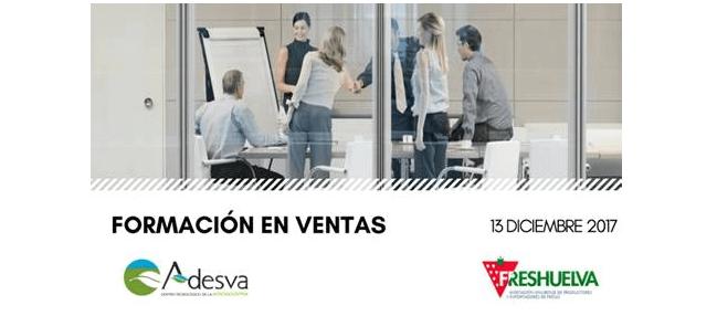 Adesva y Freshuelva organizan una formación en venta el próximo 13 de diciembre