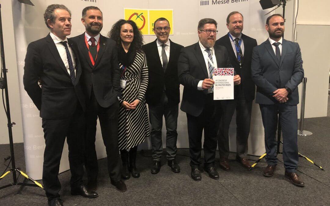 Freshuelva impulsa la internacionalización del próximo Congreso de Frutos Rojos en Fruit Logística