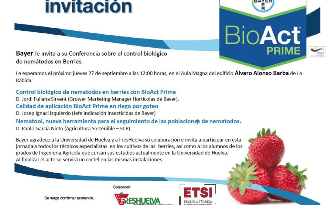 Conferencia sobre el control biológico de nemátodos en berries el día 27