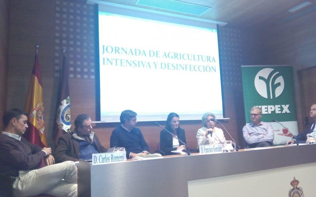 Freshuelva participa en Madrid en unas jornadas sobre desinfección de suelos