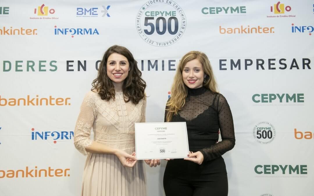 Cepyme reconoce a Agromartín como una de las 500 pymes líderes en crecimiento empresarial de España