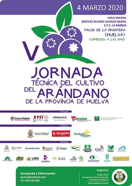 V Jornadas Técnicas del Arándano el 4 de marzo en el Campus de la Rábida