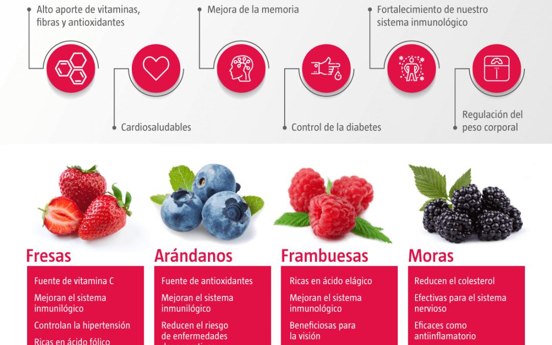 Consumir frutos rojos es consumir salud